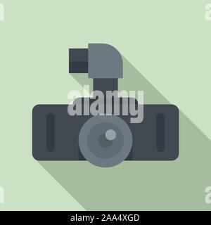Hd dvr recorder Symbol. Flache Darstellung von HD DVR Recorder vektor Symbol für Web Design - Stockfoto