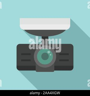 Dash Cam Recorder Symbol. Flache Darstellung von dash Cam Recorder vektor Symbol für Web Design - Stockfoto