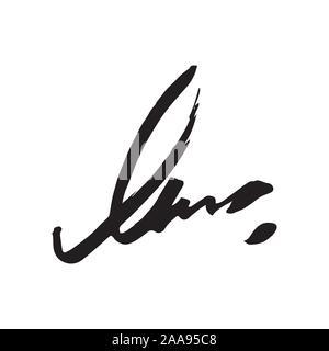 Unleserliche Handschrift
