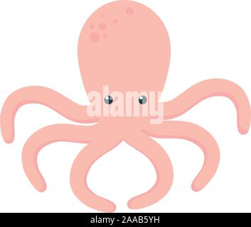 Isolierte meer Octopus vektor design - Stockfoto