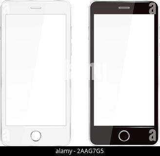 Realistische Handy Smartphone Vektor der Touchscreen Handy Gerät - Fiktive generisches Design - Stockfoto
