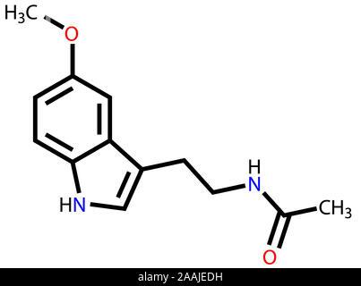 Melatonin Strukturformel - Stockfoto