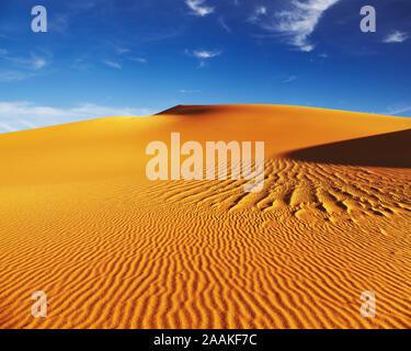 Sanddünen der Wüste Sahara, Algerien - Stockfoto
