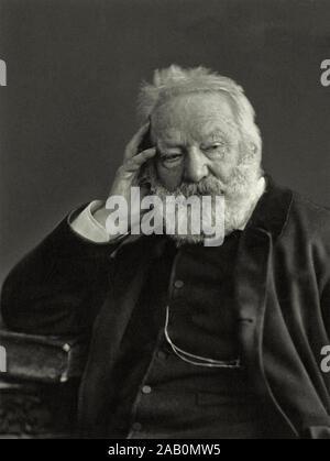 Victor Marie Hugo (1802 - 1885) war ein französischer Dichter, Schriftsteller und Dramatiker der romantischen Bewegung. Hugo gilt als eines der größten und - Stockfoto
