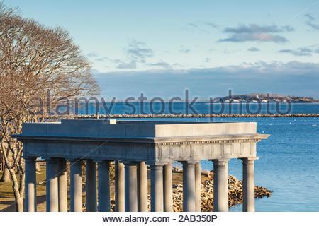 USA, New England, Massachusetts, Plymouth, Plymouth Rock Pavillon - Stockfoto
