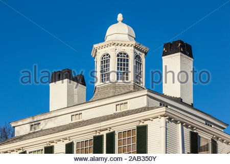 USA, New England, Massachusetts, Plymouth, Plymouth kulturellen Viertel, Plymouth Hall Museum, außen - Stockfoto