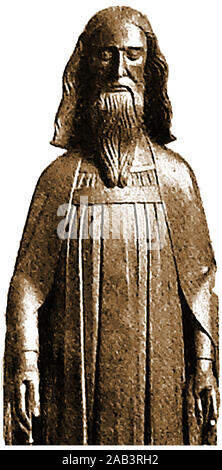 Eine frühe alt Porträt von König Eduard III. von England. 1312-1377. (auch Herr von Irland) - aus einer religiösen Statue - Stockfoto
