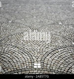Ein Hintergrund, bestehend aus Steinen - Stockfoto