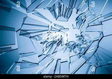 Ein Hintergrund, bestehend aus gebrochenem Glas - Stockfoto
