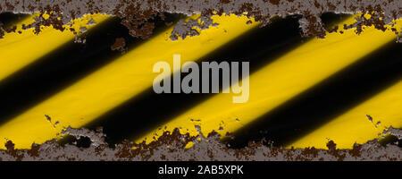 Ein Hintergrund, bestehend aus gelben und schwarzen Streifen - Stockfoto