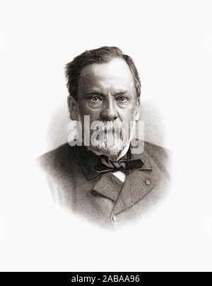 Louis Pasteur, 1822 - 1895. Französische Biologe, Mikrobiologe und Chemiker für seine Entdeckungen der Grundsätze der Impfung, mikrobielle Fermentation und Pasteurisierung bekannt. - Stockfoto