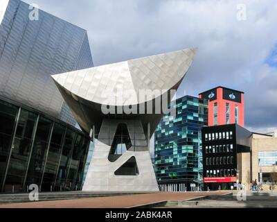 Das Lowry Arts Center und digitalen Welt Center, Media City, den Quays, Salford, Manchester, England, Großbritannien - Stockfoto