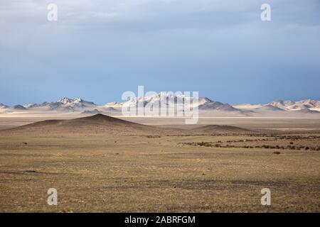 Die Landschaft der mongolischen Steppe - Stockfoto