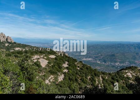 Malerische Antenne Montserrat Vista in der Nähe von Barcelona, Katalonien