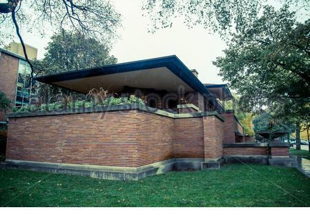 Frederick C. Robie Haus, entworfen von Frank Lloyd Wright, Hyde Park, Chicago, Illinois, USA - Stockfoto