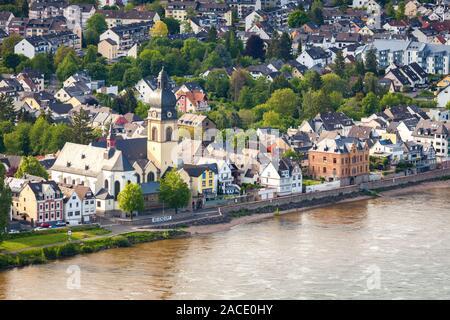 Panorama von Koblenz. Koblenz, Rheinland-Pfalz, Deutschland. - Stockfoto
