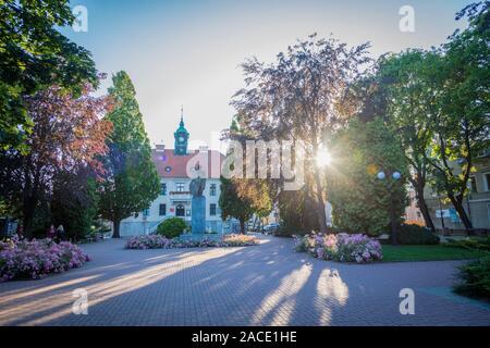 Turawa Rathaus. Kaplityny, Ermland-Masuren, Polen. - Stockfoto