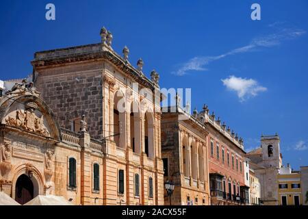 Street View in Ciutadella Stadt, Insel Menorca, Balearen, Spanien, Europa - Stockfoto