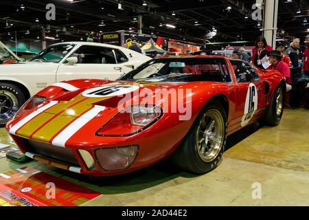 Rosemont, Illinois, Vereinigte Staaten - 23 November, 2019 - Alan Mann Racing leichte GT 40 Mk 1, auf der das Muscle Car und Corvette Staatsangehörige 201