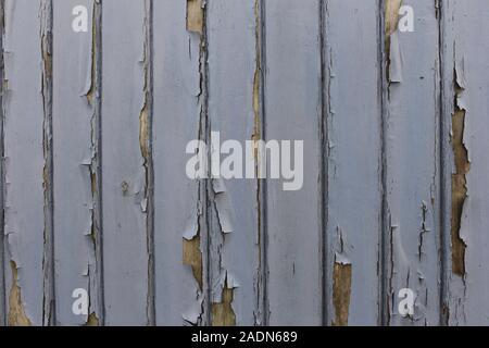 Nahaufnahme der hölzernen Wand mit hellblauer Farbe - Stockfoto