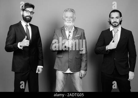 Portrait von multi-ethnische bärtigen Geschäftsleute zusammen - Stockfoto
