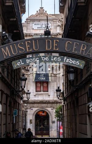 Museo de Cera Wax Museum in Barcelona, Spanien, Europa - Stockfoto