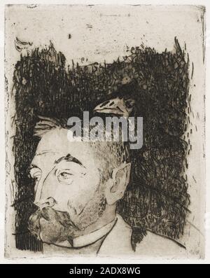 Portrait von Stphane Mallarm (Ca. 1890) von Paul Gauguin..jpg - 2 ADX 8 WG - Stockfoto