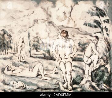 Die großen Badenden (1898) von Pierre-Auguste Renoir. - Stockfoto