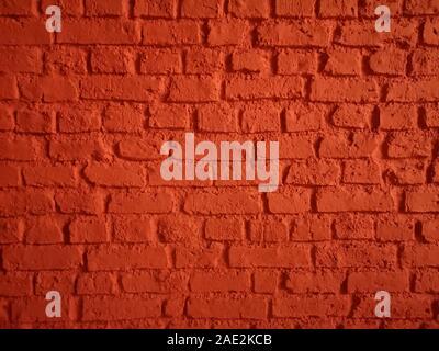 Gemauerte Wände zeigen Muster stack block Rauhe Oberflächenbeschaffenheit material Hintergrund die Fugen Schweißen mit Zement-mörtelschlamm rote Farbe - Stockfoto
