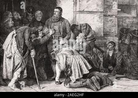 Andreas Hofer führte zu Ausführung, Tiroler Rebellion, 1809 - Stockfoto