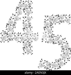 Hand-Zeichnung ornamentalen Alphabet. Brief 45 - Stockfoto