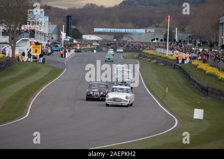 Goodwood Motor Racing Chichester West Sussex - Stockfoto