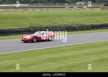 Niklas Halusa, Emanuele Pirro, Ferrari 250 GT SWB Breadvan, Kinrara Trophäe, geschlossenen Cockpit GT Autos Goodwood Motor Racing Chichester West Sussex