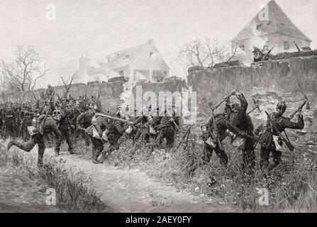 Die Schlacht von Le Bourget, Belagerung von Paris, französisch-preußischen Krieg., 27. und 30. Oktober 1870 Stockfoto