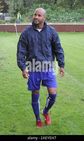 Liverpool, Großbritannien, Hollywood Star Ricky Whittle spielt Charity Football Match in Uk credit Ian Fairbrother/Alamy Stockfotos - Stockfoto