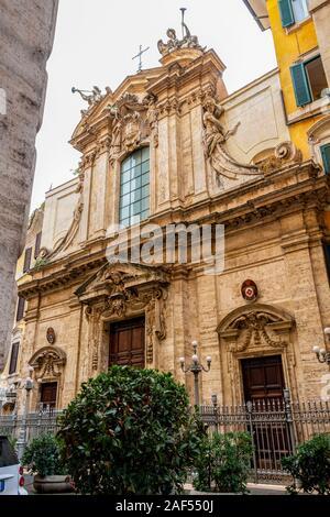 Kirche des Heiligen Antonius in Campo Marzio, wie der Heilige Antonius von der Portugiesischen in Rom, Latium, Italien bekannt - Stockfoto