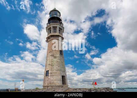 Buffalo Norden Breakwater Leuchtturm, See Erie, NY, USA - Stockfoto
