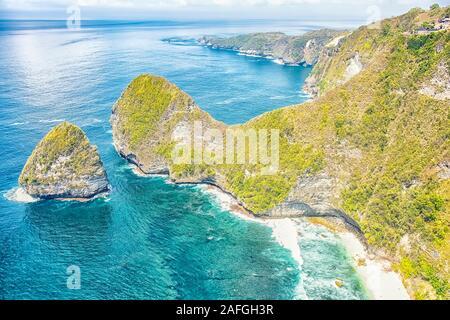 Kelingking Strand in Nusa Penida Insel, Indonesien - Stockfoto
