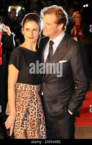 Colin Firth, Livia Giiuggioli die Kings Rede, Premiere, London, Großbritannien - Stockfoto