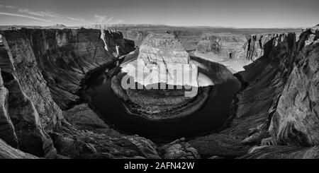 Panoramablick über Horseshoe Bend, Oregon, USA - Stockfoto
