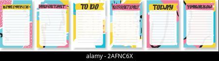 Veranstalter, Planer mit retro Hintergrund und trendigen Schriftzug. - Stockfoto