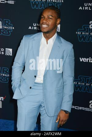 Los Angeles, USA. 17 Dez, 2019. John Boyega kommt bei der Premiere von Disney's 'Star Wars: Der Aufstieg der Skywalker' am 16 Dezember, 2019 in Hollywood, California Credit: Tsuni/USA/Alamy leben Nachrichten - Stockfoto