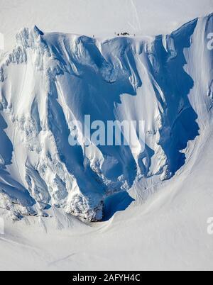 Titel und Wissenschaftler Mt Hofsjokull Hasteinar Felsen, Gletscher, Island - Stockfoto