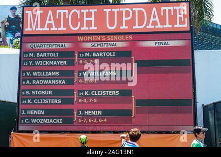Key Biscayne Florida Sony Ericsson Open Profi-Tennis-Turnier sportlichen Event Anzeiger - Stockfoto