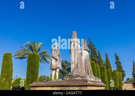 Gärten des Alcázar de los Reyes Cristianos Cordoba in der Region Andalusien in Spanien - Stockfoto