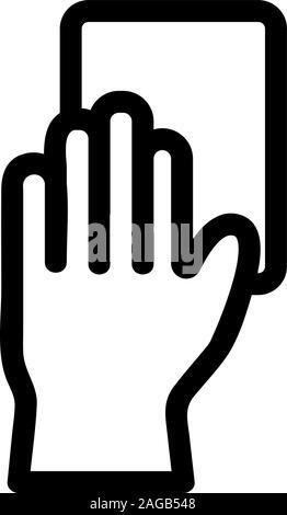 Handschuhe für die Reinigung der Vektor icon. Isolierte Kontur symbol Abbildung - Stockfoto