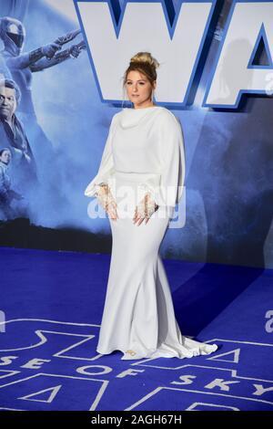 Meghan Trainor. Star Wars: Der Aufstieg von Skywalker. Europäische Premiere, Cineworld Leicester Square, London. Großbritannien - Stockfoto