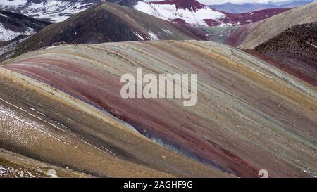 Neue Palccoyo der Regenbogen Berg in Palccoyo, Cusco, Peru - Stockfoto