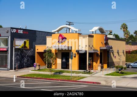Taco Bell 12011 Venedig, Santa Monica Boulevard, Los Angeles, Kalifornien, USA - Stockfoto