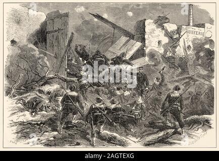 Aus dem Suifferie du Bourget, die von den Marines. Die Belagerung von Paris, vom 19. September 1870 bis 28. Januar 1871, und die damit verbundene Besetzung des Stockfoto